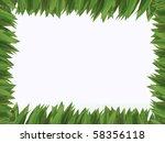 green grass frame   Shutterstock . vector #58356118