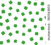 clover leaf seamless pattern...   Shutterstock .eps vector #583563853
