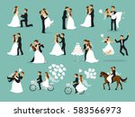just married   newlyweds  bride ... | Shutterstock .eps vector #583566973