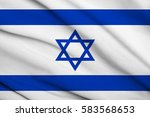 fabric texture flag of israel | Shutterstock . vector #583568653