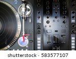 overhead shot of party dj audio ... | Shutterstock . vector #583577107