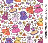 vector seamless pattern with... | Shutterstock .eps vector #583579873