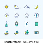 energy and weather icons  neon...