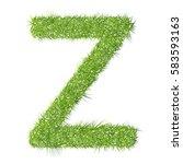 z grass letter on a white... | Shutterstock . vector #583593163