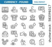 currency   pound icons.... | Shutterstock .eps vector #583598317