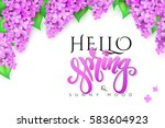 Vector Hello Spring Banner Wit...