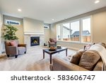 light filled living room... | Shutterstock . vector #583606747