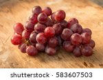 bunches of fresh ripe red... | Shutterstock . vector #583607503