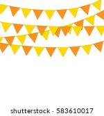bunting flags orange color...