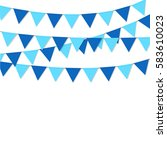 bunting flags blue color...   Shutterstock .eps vector #583610023
