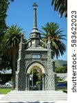 Small photo of War Memorial, Akaroa, South Island New Zealand