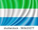 national flag of sierra leone | Shutterstock . vector #583623277