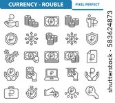 currency   rouble icons.... | Shutterstock .eps vector #583624873