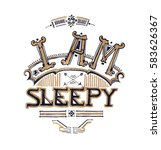 I Am Sleepy Typograhy Design...