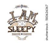 I Am Sleepy Typograhy Design...