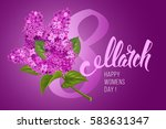 greeting card for 8 march ... | Shutterstock .eps vector #583631347