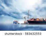 international container cargo... | Shutterstock . vector #583632553
