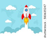 launch space rocket  as a... | Shutterstock .eps vector #583635247