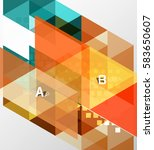 vector triangle banner ... | Shutterstock .eps vector #583650607