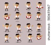 vector set of manager or... | Shutterstock .eps vector #583655467
