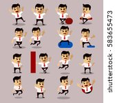vector set of manager or... | Shutterstock .eps vector #583655473