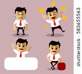 vector set of manager or... | Shutterstock .eps vector #583655563