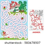 help fairy to find a path to...   Shutterstock .eps vector #583678507