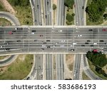 top view of radial leste avenue ... | Shutterstock . vector #583686193