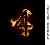 fiery font | Shutterstock . vector #58369450