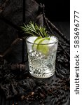 white cocktail decorated with... | Shutterstock . vector #583696777