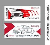 set of auto repair service...   Shutterstock .eps vector #583702867
