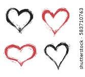 vector grunge heart  valentine...