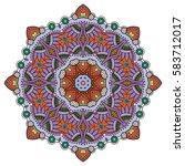 mandala flower decoration ...   Shutterstock .eps vector #583712017