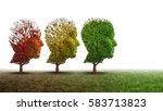 dementia and mental health... | Shutterstock . vector #583713823