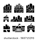 city vector icons set | Shutterstock .eps vector #583715293