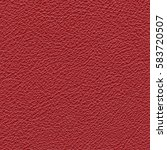 red artificial leather texture. ... | Shutterstock . vector #583720507