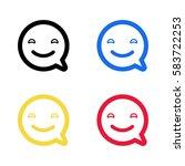 smile emoji emoticon dialogue...   Shutterstock .eps vector #583722253