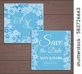 wedding invitation card suite... | Shutterstock .eps vector #583726663