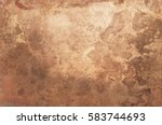 aged copper plate texture  old... | Shutterstock . vector #583744693