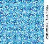 swimming pool blue mosaic...   Shutterstock .eps vector #583746067