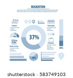 infographic template about... | Shutterstock .eps vector #583749103