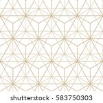 abstract geometric pattern with ... | Shutterstock .eps vector #583750303