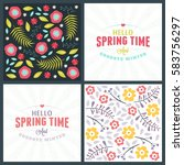 spring holiday greeting card...   Shutterstock .eps vector #583756297