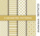 set of vector geometric... | Shutterstock .eps vector #583756723