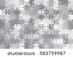 112 Grey White Puzzles Pieces...