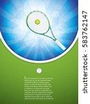vector illustration of tennis... | Shutterstock .eps vector #583762147