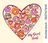 my sweet heart. design from... | Shutterstock .eps vector #583767643