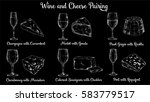 wine and cheese pairing vector... | Shutterstock .eps vector #583779517