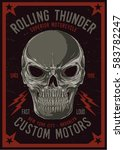 vintage biker graphics and... | Shutterstock .eps vector #583782247