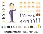 businessman character creation... | Shutterstock .eps vector #583784257